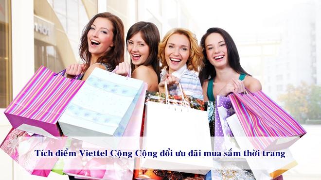 Đổi điểm Viettel Cộng Cộng nhận ưu đãi mua sắm thời trang